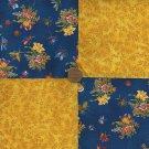 4 inch Bugs Florals Vines Fabric Quilt Squares zt1