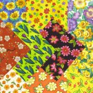 I Spy Flower Floral  Assortment  Fabric Novelty Multi Square FA Set 2b