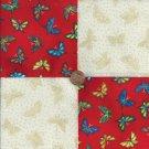 Butterfliy Shadows 4 inch Cotton Fabric Craft Squares Blocks PB1