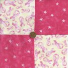 Cancer Love Faith 4 inch Cotton Fabric Quilt Squares  Blocks ze1
