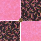 Pink with a Twist Black  Fabric Craft Quilting 100% Cotton Squares  1W  zw1