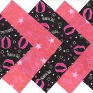20 4 inch Starring Don't Kiss and Tell Lips Quilt Squares OSR5