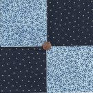 Jacks on Blue Navy w Stars 4 inch 100% Cotton Novelty Fabric Quilt Squares TC1
