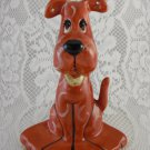 Ceramic Big Red Dog Figurine Statue Trinket Jewelry Holder Collectible tbllw1