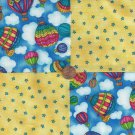 Hot Air Balloons and Stars 4 inch Fabric Squares Blocks AW1