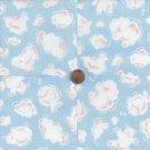 Cloud Shapes  Pink Blue Clouds 100% Cotton Fabric Quilt Square Blocks GE