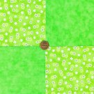 Lime Daisy Daisies Lime Flowers Bright 100% Cotton Fabric Quilt Square Block LP1