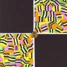 "Candy Black Licorice 4""  4 inch Fabric Quilt Squares Block LW1"