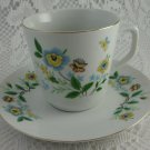 Ceramic Butterfly Cup and Saucer Set Two Piece tblqw1