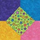 25 4 inch Moda Bright Stars Green  Fabric Craft Squares  100% Cotton osr3