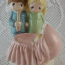 Ceramic the Moments Are Precious New Parents Happy Family Birth of Child tblqd1