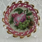 Lace Look Purple Decorative Dessert Plate Japan Tableware Collectible tblza1