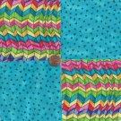 Puzzle Blue Triangles  Blue 4 inch 100% Cotton Novelty Fabric Quilt Squares DE1