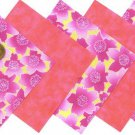 Beyond Beautiful Pink Flowers Fabric Squares100% Cotton Squares osr3