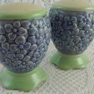 Pfaltzgraff Salt and Pepper Shakers Ceramic Blue Flowers Bouquet Kitchen tblak1