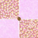Daisy Daisies Flowers Pink   Fabric 100% Cotton Squares 39b   zw1