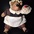 Bear Josette Baking Pie by Russ Berrie Inc Cute Addition to Collection tblms1