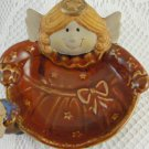 Ceramic Angels Big and Little Trinkets Earrings Holder Dish Collectible tbleu1