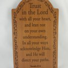 Wood Trust In The Lord Indoor Wall Plaque Religious Home Decor Collection tbluu1
