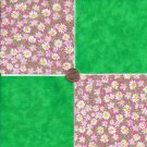 20 4 inch Lively Little Daisies Fabric Quilt Squares 100% Cotton osr3