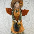 Gardening Angel Autumn Colors Sweet Adorable Figurine Carrying Bucket tblpq1