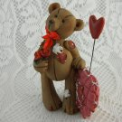 Resin Bear Collectible Be Mine Statue Figurine Shabby Rose Valentine Cute tbleu1