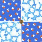 Sailing on a Cloudy Day  Fabric Quilt Squares 100%  Cotton Fabric  YW1