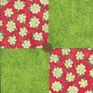 Happy Daisy 4 inch Fabric Quilt Squares  Block ZT1