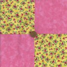 Breast Cancer Assort Cotton Fabric Quilt Squares Quilting zd1