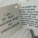 Official Guardian Angel for Cheerleaders St Yea Metal Figurine Keepsake tblak1