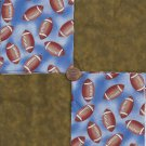 Football in the Dirt 4 inch 100% Cotton Novely Fabric  Squares FS2