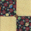 Jiminy Cricket that BUG is Cute Cotton Fabric Novelty Quilt Craft Squares ck