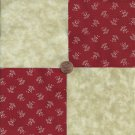 Flowers on Red with Beige 4 inch 100 % Cotton Novelty Fabric Quilt Squares TC1