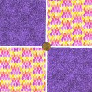 Jolly in Purple Stash Builder 4 inch100% Cotton Novelty Fabric Quilt Squares DE1