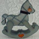 Decorative Wooden Rocking Horse Indoor Home Decor Figurine Collectible tbleu1