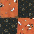 The Night has a Thousand Eyes 100% Cotton Fabric Novelty Quilt Squares  sz1