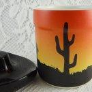 Ceramic Cowboy Southwest Jar Cowboy Hat Shaped Lid Home Decor Collectible tbljt1