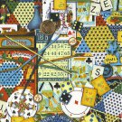 """I Spy 6 by 9 inch Games People Play Bingo Chest Cards  Novelty Fabric 6"""" x 9"""""""