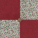 Rasberry Red Flowers Cotton  Fabric Quilt Square Craft Charms  CK