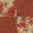Leaves Rustic Beauty  100% Cotton Fabric Quilt Square Blocks FT