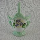 Ceramic Vase Bouquet Holder Getaway 2000 Linda Lilacs Floral Basket tblbs1