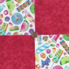 Penny Candy Fabric Sweets Treats  4 inch 100% Cotton Novely Fabric  Squares FK1