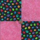 Power Packed Pink  4 inch Fabric Quilt Squares Charms  EF