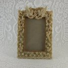 Vintage look Love Birds Roses Picture Frame holds 5 x 3 picture Shabby Rose hw1