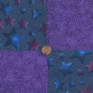 Virtual Purple and Beyond 4 inch Cotton Fabric Craft Quilt Squares wz1