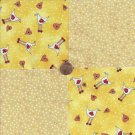 Chickens POX  Beige Speckles 100% Cotton Fabric Quilt Square Blocks FT