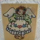 Angel Rubber Stamp Wood Mounted for Stationary Envelopes Adorable Detail tblmn1
