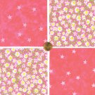 Pink Daisy Daisies Flowers and Stars Fabric 100% Cotton Squares 29b bca   zw1