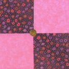 Purple and Pink Flowers Dots 100% Cotton Fabric Quilt Squares  my3