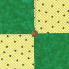 Check Your Luck Shamrock Clover Novelty  Fabric Quilt Squares my4